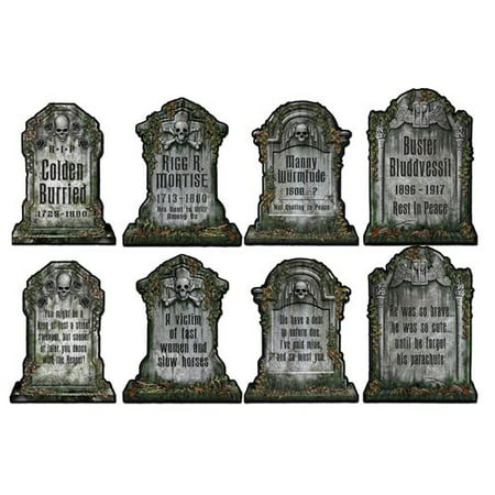 The Beistle Company Halloween Tombstone Cutouts (Set of 4) (Cardboard Maze Halloween)