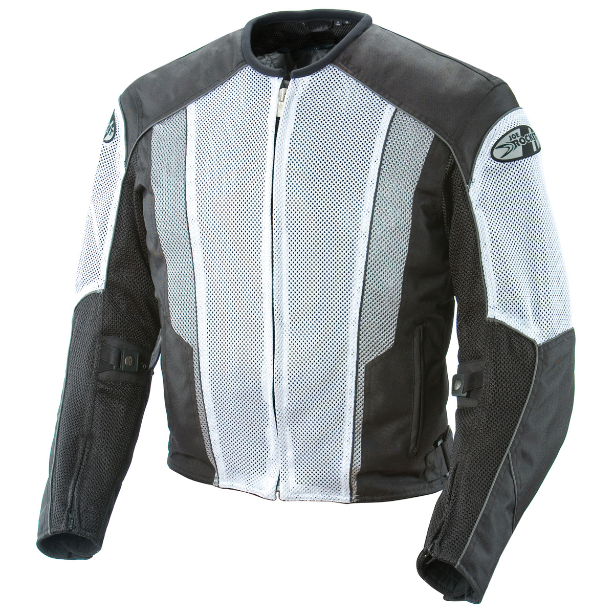 Joe Rocket Phoenix 5.0 Mens White/Black Mesh Motorcycle J...