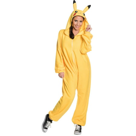 Female Pokemon Costumes (Pokemon: Pikachu Jumpsuit Adult Costume)