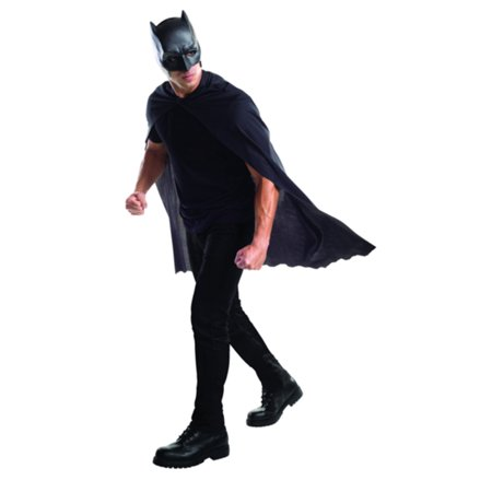 Adult Batman Cape with Mask Superman Dawn of Justice DC Costume Accessory - Batman Cape And Mask For Adults
