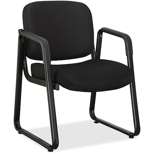 Lorell Fabric Guest Chair, Black