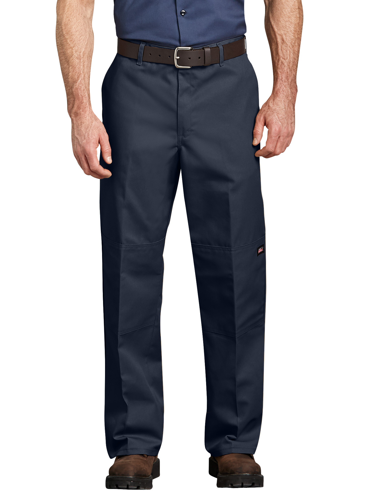 Men's Loose Fit Straight Leg Double-Knee Work Pants