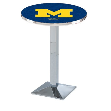 Incredible Ncaa Pub Table By Holland Bar Stool Chrome Michigan Wolverines 36 L217 Gmtry Best Dining Table And Chair Ideas Images Gmtryco