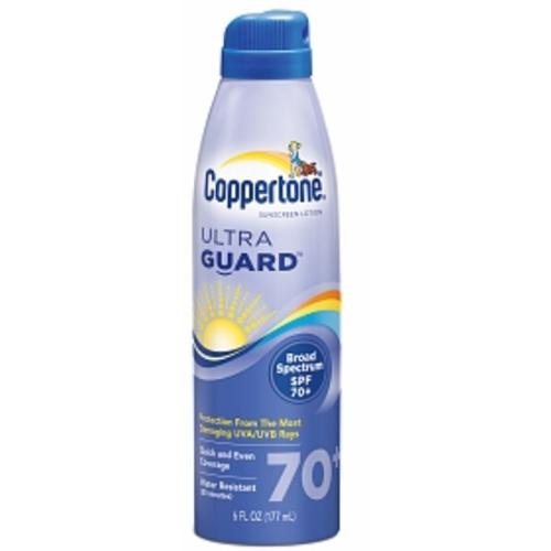 Coppertone Ultraguard Continuous Spray Sunscreen, SPF 70, 6 fl oz