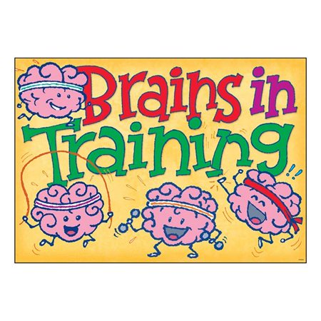 Trend Enterprises T-A67089 13.5 x 19 in. Brains in Training Argus Poster ()
