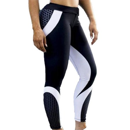 4d4d4ea84bf2e Womens Workout Leggings Fitness Yoga Gym Printed Pants Running Exercise  Sports