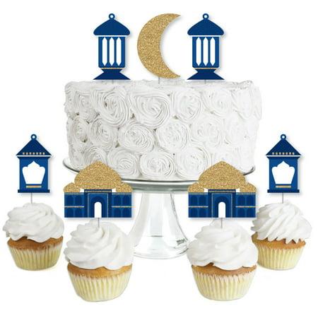 Ramadan - Dessert Cupcake Toppers - Eid Mubarak Clear ...