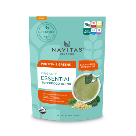 Navitas Organics Essential Blend Protein & Greens, 10.58 - Mighty Greens Blend