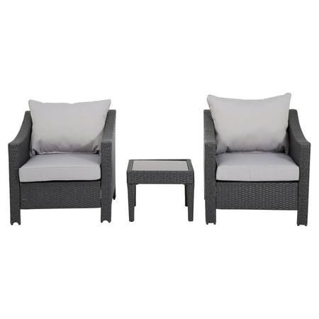 Destiny 3 Piece Arm Chair Set with Cushion (3 Piece Right Arm)
