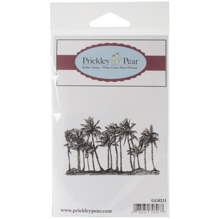 Prickley Pear Cling Stamps 3 X2  Palm Trees