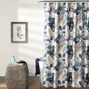 Floral Paisley Shower Curtain, Blue