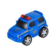 "Rev Up And Go Friction 4"" Blue Police Car Toy Vehicle"