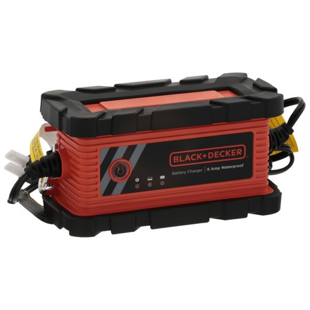 BLACK + DECKER 6 Amp Waterproof Battery Charger/Maintainer (BC6BDW)