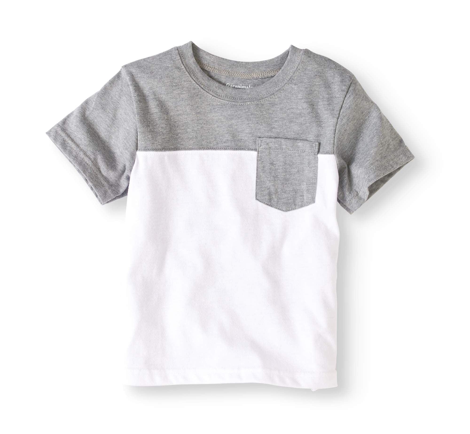toddler boy short sleeve colorblock pocket t-shirt