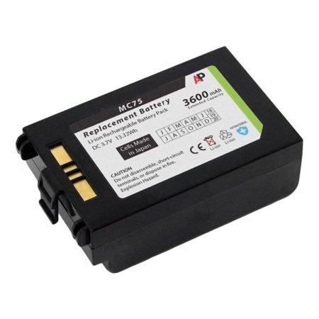 (Motorola / Symbol MC75 & MC70 Series: Replacement Battery. 3600 mAh Extended Capacity)