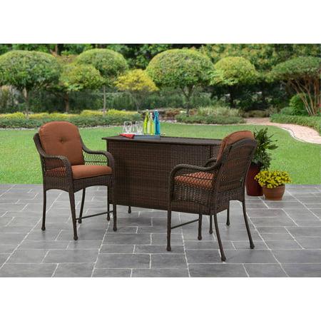 Better Homes And Gardens Azalea Ridge 3 Piece Bar Set Best All Patio Chairs Stools