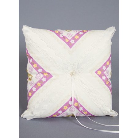 - Ivy Lane Design Purple Floral Ring Pillow