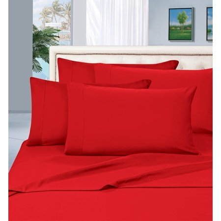 Elegant Comfort 1500 Series Wrinkle Resistant Egyptian Quality Hypoallergenic Ultra Soft Luxury 3-Piece Bed Sheet Set, Twin, Red