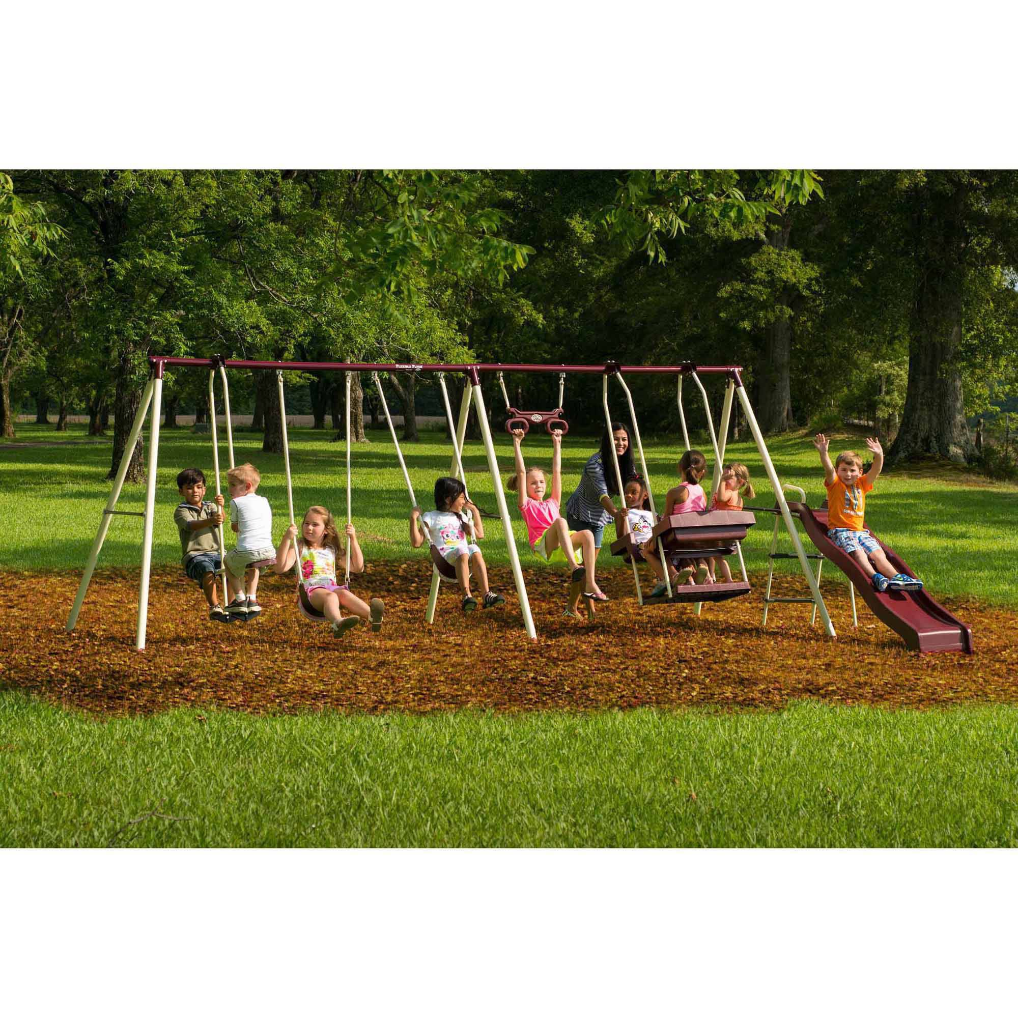 backyard discovery atlantis cedar wooden swing set walmart com