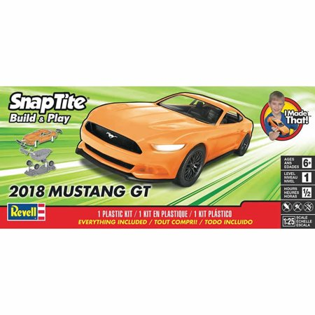 Scale Snap Together Plastic Model (2018 Mustang GT Snap Tite Plastic Model Kit 1/25 Scale Revell)