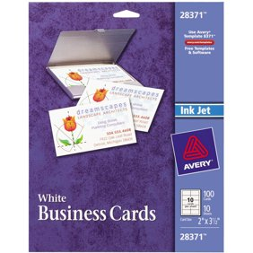 Avery printable microperf business cards laser 2 x 3 12 white customers also considered averyr matte business cards reheart Images