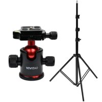 Vivitar 98 Inch Extendable Iron Light Stand Tripod with 360° Swivel Ball Head Mount