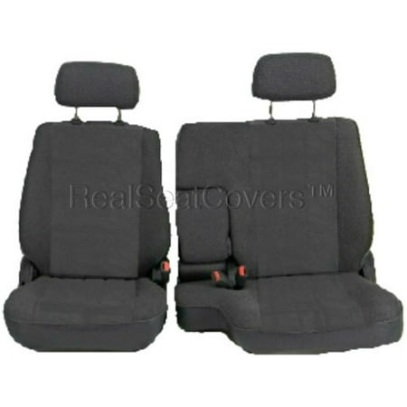 RealSeatCovers 3 Layer Seat Cover for Toyota Tacoma RCab XCab A67 60 40 Split Bench 10mm Thick Triple Stitched Exact Fit (Dark Gray)