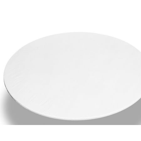 Royal Bath 48 Inch Round Vinyl Fitted Flannel Backed Tablecloth, Color: White (Fitted Tablecloths Round)