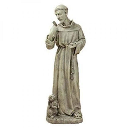 Joseph Studio 89944 Tall St. Francis with Bunny Garden Statue, 24-Inch ()