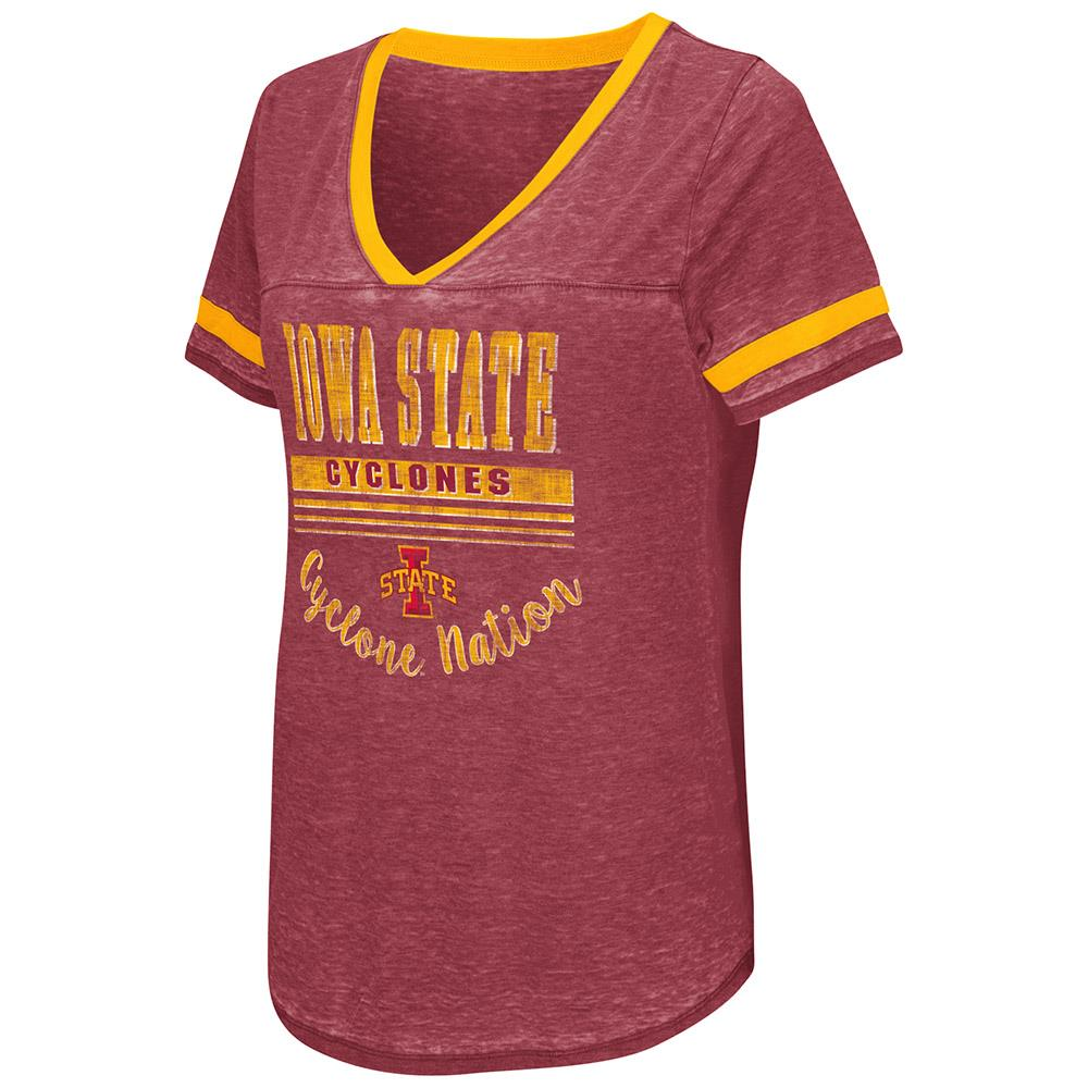 Womens Iowa State Cyclones Short Sleeve Tee Shirt S by Colosseum