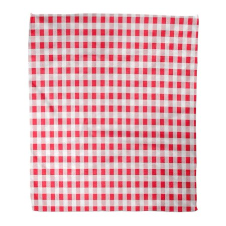 ASHLEIGH Flannel Throw Blanket Towel Red and White Plaid Pattern Printing The Pattern for Food Chequered Italian Napkin 50x60 Inch Lightweight Cozy Plush Fluffy Warm Fuzzy Soft - Napkin Printing