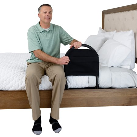 Supine Stander - Stander Bed Rail Advantage Traveler - Portable Folding Bed Handle + Padded Pouch