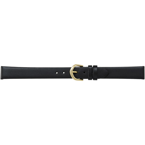 Timex Women's 13mm Genuine-Leather Replacement Watch Band, Black