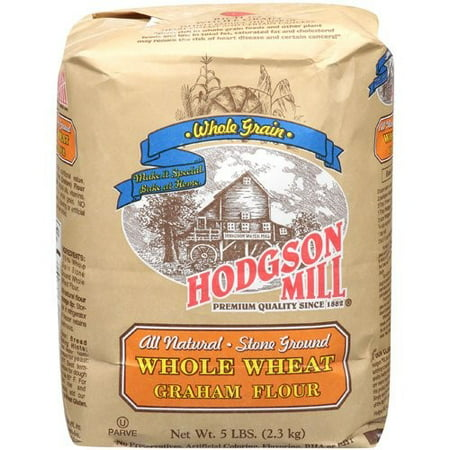 (2 Pack) Hodgson Mill All Natural Stone Ground Whole Wheat Graham Flour, 2.30 kg