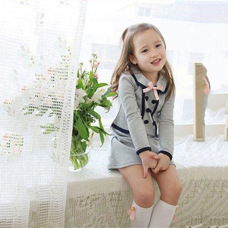 4b2e5682b937 Kacakid - Kacakid Fake 2pcs Cool Kid Girls Cotton Preppy Style Long ...