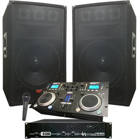 DJ System - Crank It UP! DJ System - Great for those summer parties - 2100 WATTS - DJ Equipment - Party Equipment