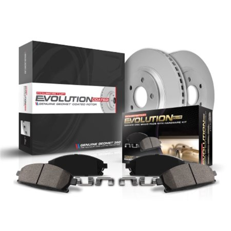 Power Stop CRK3080 Z23 Evolution Sport Brake Kit with Genuine Geomet Coated Rotors And Z23 Carbon Fiber Ceramic Brake Pads; (Evolution Carbon Fiber)
