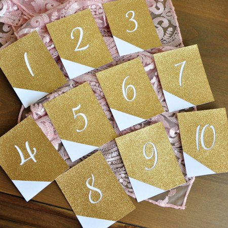 Glitter Table Numbers. Modern Wedding Decor. Reception Table Numbers - Table Numbers For Wedding Reception