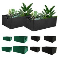 Garden Growing Bags,Felt Plant Bags with Handles, Fabric Pots,Square Planting Container,Grow Bags Indoor Garden Planter Pot for Plants