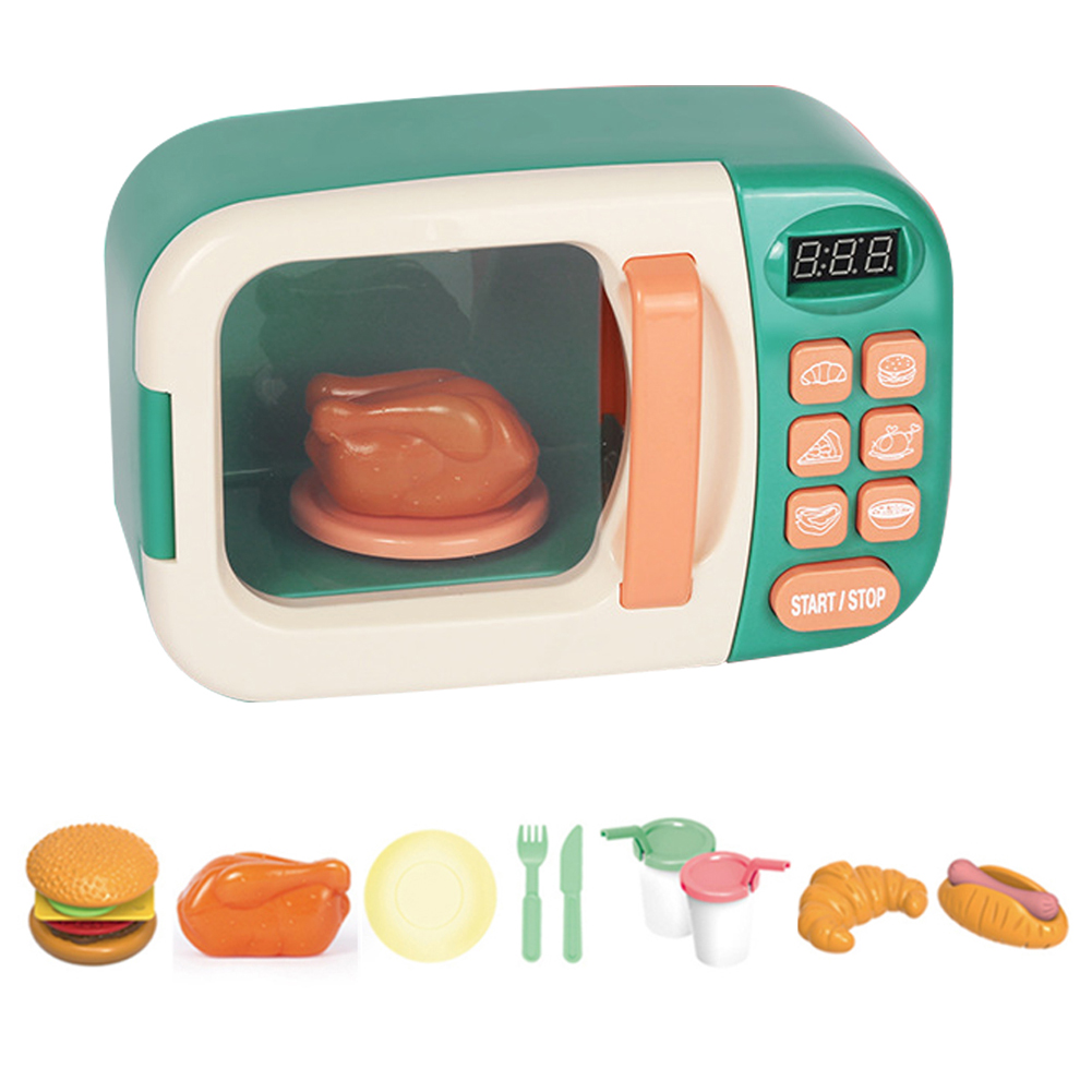 Kid Kitchen Cookware Playset Play Kids Toy Mini Electric Microwave Oven