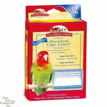 L/M Animal Farms BLM02914 Absorbent Bird Cage Liner, PVC (plastic) Coated wire to help prevent nose rubbing By L M Animal