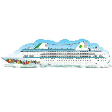 The Beistle Company Jointed Cruise Ship - Cruise Decorations