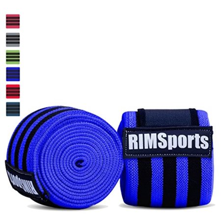 Knee Wraps For Powerlifting, Gym, Crossfit & Crossfit Equipment - Premium Powerlifting Knee Wraps - Best Knee Wraps For Squats - Ideal Knee Straps Weightlifting & Knee Straps For Squats -