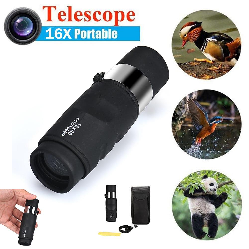 Super High Power 16X40 Portable HD OPTICS BAK4 Night Vision Monocular Telescope