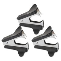 Universal 00700VP Jaw Style Staple Remover - Black, 3 per Pack