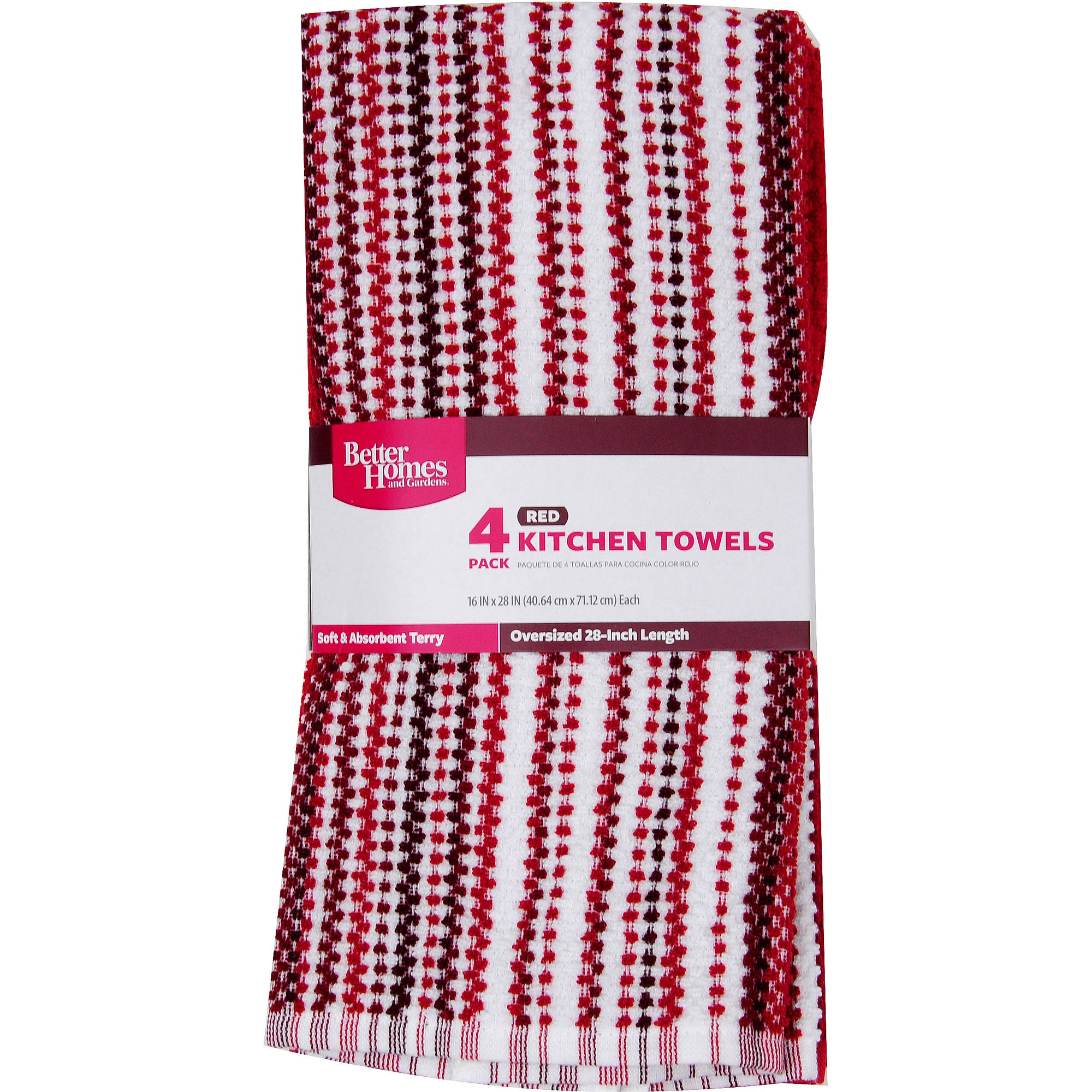Beau Better Homes And Gardens Kitchen Towels, 4pk   Walmart.com