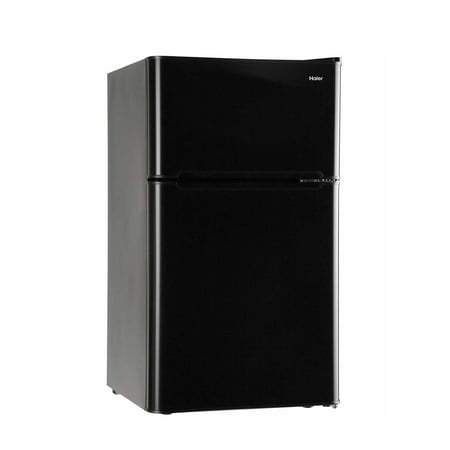 Haier 3.2 Cu Ft Two Door Refrigerator with Freezer HC32TW10SV, Black