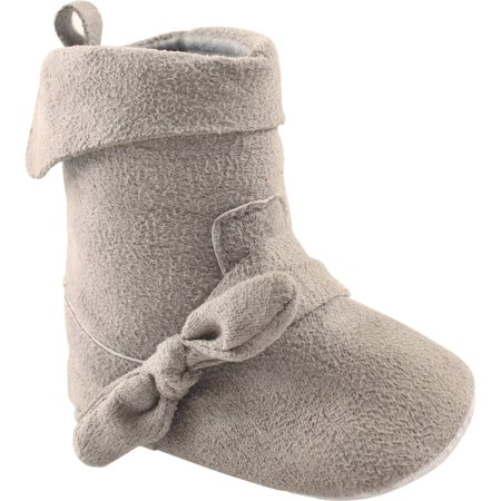 Newborn Baby Girls Suede Fold Over Boot - Chuck Taylors Baby