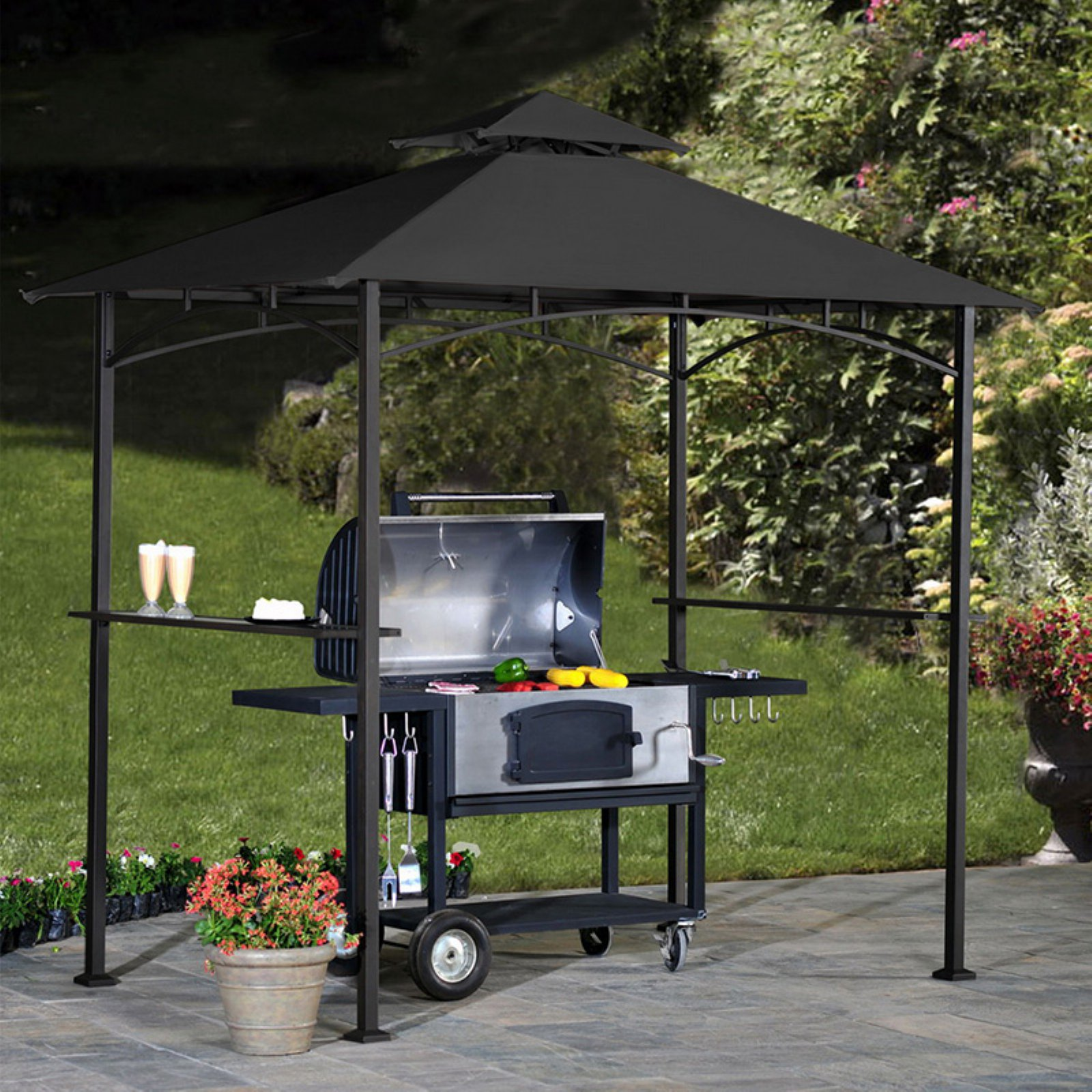 Sunjoy Replacement Canopy Set for L-GZ238PST-11C1 Grill Gazebo