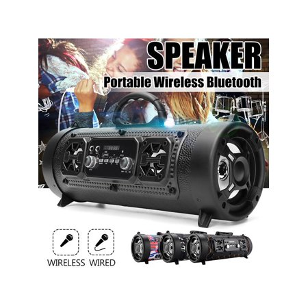 FM Portable bluetooth Speaker Wireless Stereo Used as a bible player Loud Super Bass Sound Aux USB TF ❤HI-FI❤ Outdoor/Indoor Use ❤Best Christmas gift❤ 4 (Best Hifi Subwoofer 2019)
